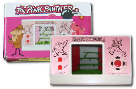 Pink Panther LCD handheld game by Cresta or Halion or Ectron