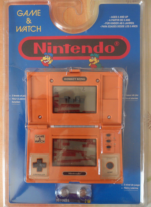 Donkey Kong DK-52 Game & Watch Blue Blister Pack Carded Handheld Game