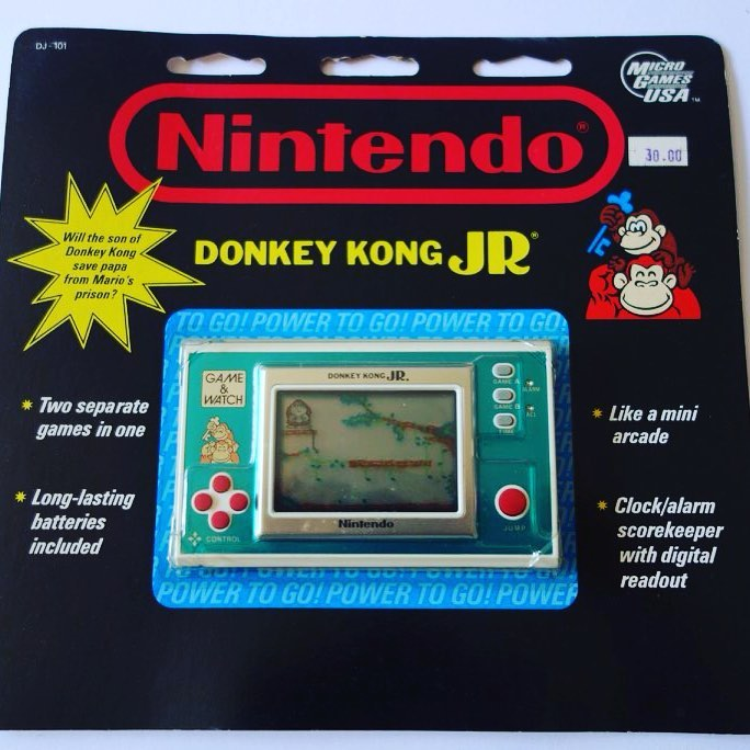 Donkey Kong DK-52 and Donkey Kong Jr DJ-101 Game & Watch Blister Packs