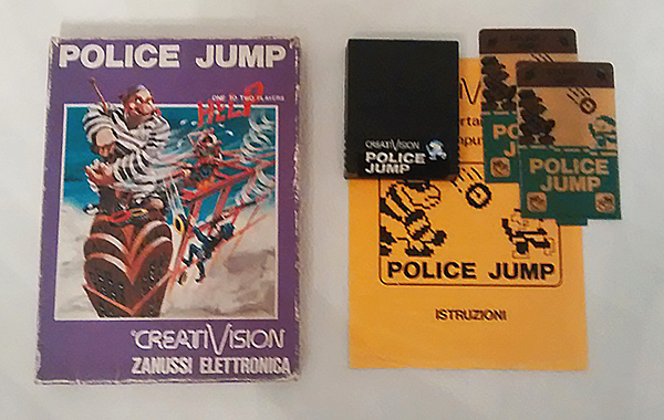 Police Jump game cartridge for VTech Creativision and Dick Smith Wizzard